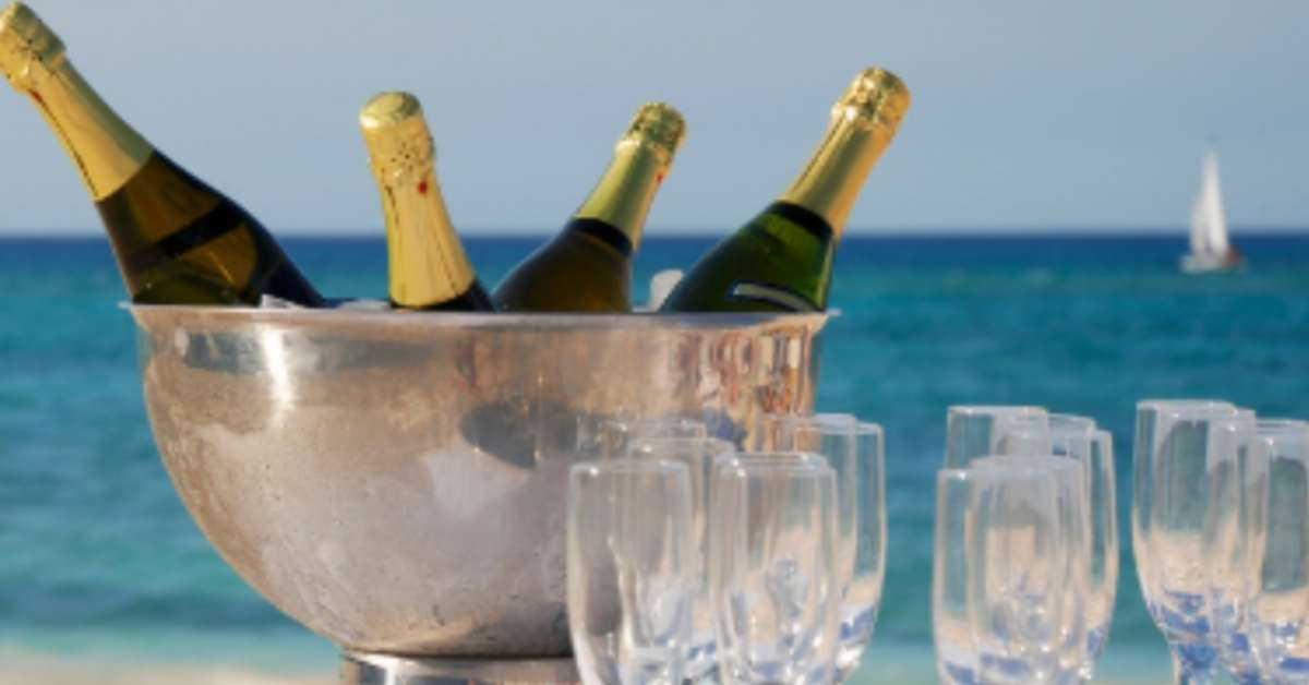 Champagne bucket in the Whitsundays